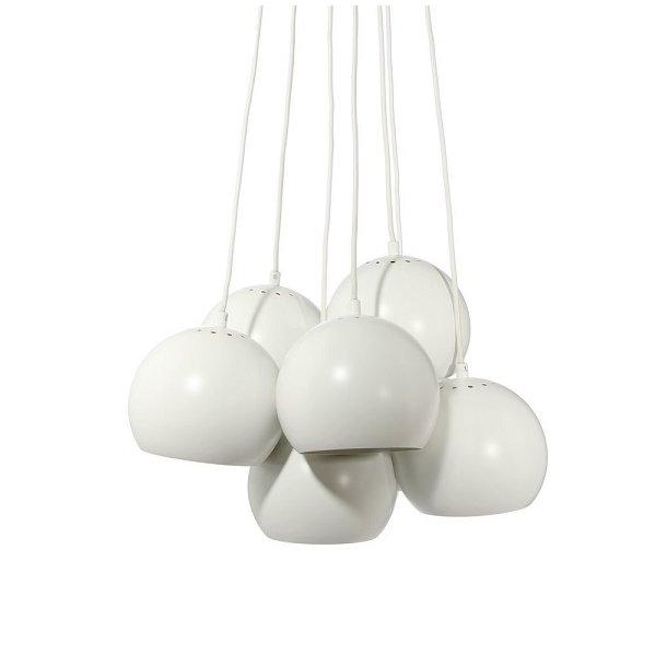 Ball Multi Chandelier - White Matt - Frandsen