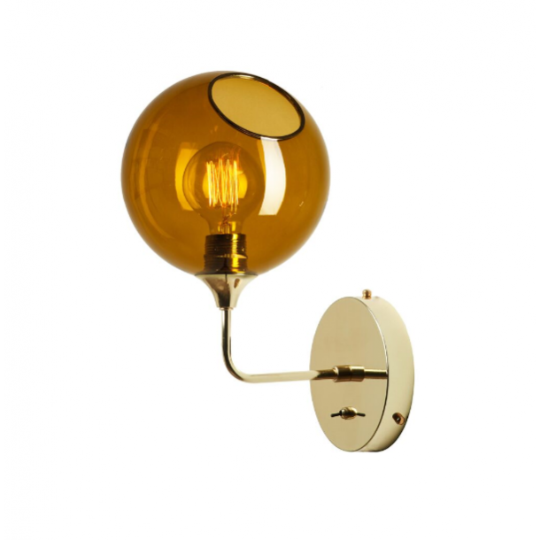 Ballroom Væglampe H37 Amber/Gold