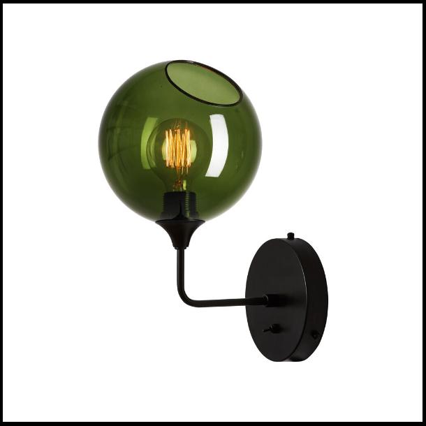 Ballroom Væglampe H37 Green/Black
