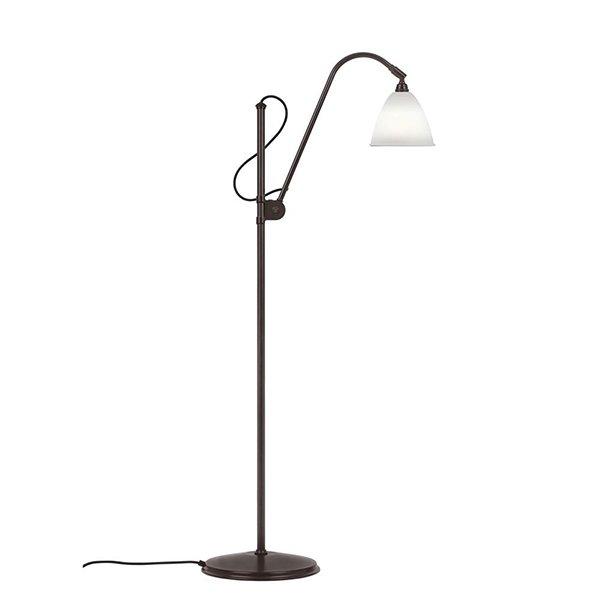 BL3S gulvlampe, Porcelæn / Sort Messing - Bestlite
