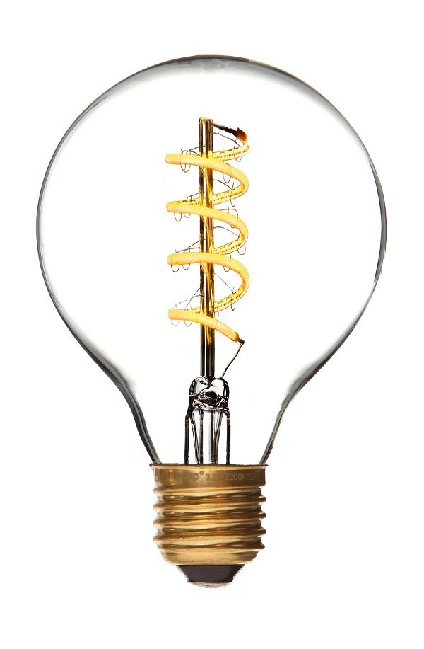 LED Globe de luxe spiral Danlamp