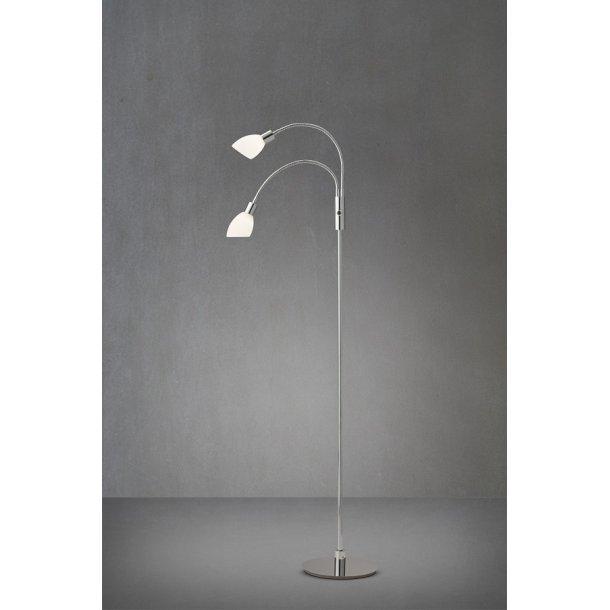 Herstal Cut Duo LED Gulvlampe med Lysdæmper