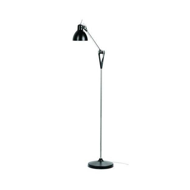 LUXY F1 gulvlampe fra Rotaliana, Sort stel - Uden skærm