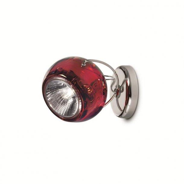 Beluga væg / loft lampe fra Lampefeber, rød