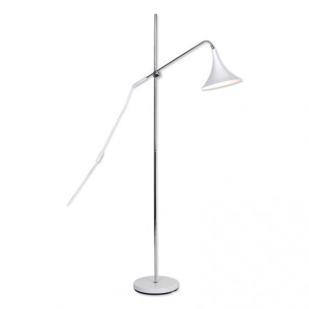 Trio gulvlampe - Hvid - Raxon
